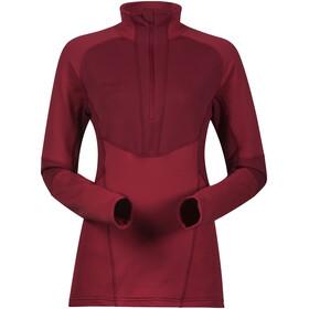 Bergans Roni Half-Zip Fleece Shirt Women red/burgundy